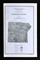 1878 Geological Map Lawrence County Pennsylvania by Lesley - New Castle PA Coal