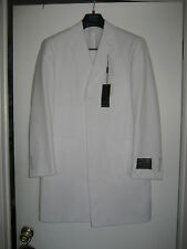 Ferrecci Super 150's Pant Suit Polyester Men's 38S  PARIS WHITE 6B OV 1P