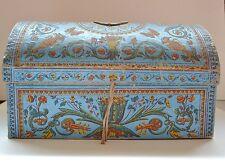 Superbe coffre en carton gainé de papier peint - Fin XVIIIème