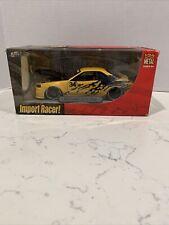 Jada Toys Import Racer! Nissan Skyline GTR R34 Yellow 1:24 Scale New Rare Sealed