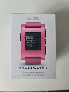 Pebble Classic Pink Smart watch Polycarbonate Case Pink Brand New Opened