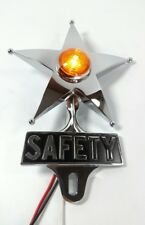 Safety Star License Plate Topper, Dual Function Amber LED, VTG Car Accessory