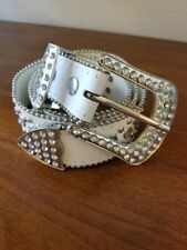White Belt With Rhinestones