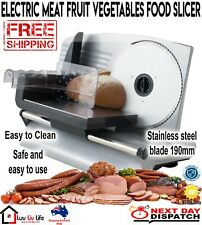 200W Electric Food Slicer Meat Cheese Fruit Vegetables Deli  Bread/Processor New