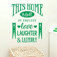 This Home is Full of Endless Love, Laughter & Laundry - Home Wall Quote, Wall Ar