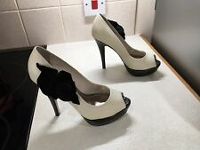 Faith Ladies Leather Shoes, Size Uk 4/37, Worn Once