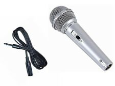 Dynamic Microphone With Lead And Plug  Switched  Silver