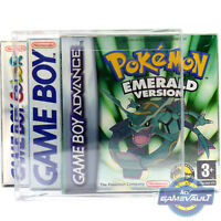 10 x Box Protectors for Nintendo GameBoy Advance Game 0.5mm Plastic Display Case