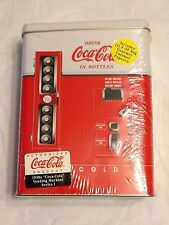 "COCA-COLA Vending Machine Tin w/ Hinged Lid ""1950s Series I"" SEALED 1997"