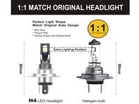 MINI LED H4 Hi/Lo Kit 200W 6000K Ampoules Voiture Feux Phare Lampe Xénon Blanc