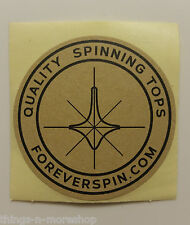 2x ForeverSpin Quality Spinning Top Tops Promotional Sticker - Set of TWO 2pc