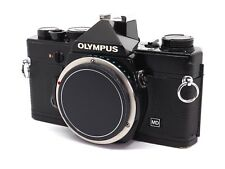 Olympus OM-1 OM1 MD 35mm SLR Film Camera Body - Rare Black - New Light Seals