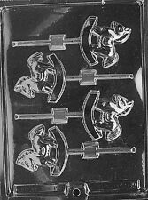 ROCKING HORSE LOLLY POP mold Chocolate Candy baby shower  it's a boy girl