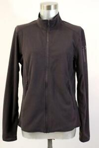 ARCTERYX Black WAFFLE KNIT JACKET Full Zip Mock Neck Athletic Outdoor Womens M