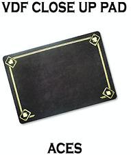 Vdf Close Up Pad with Printed Aces (Black) by Di Fatta Magic