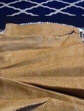 """Croscill King Bed Skirt Gold 17.5"""" Basket Weave Bedskirt New While Supplies Last"""