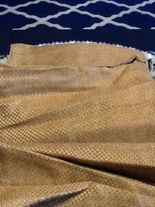 "Croscill Queen Bed Skirt Gold 17.5"" Basket Weave Bedskirt, NWOT"