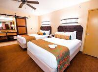 Walt Disney World Caribbean Beach Resort Guest Room Fitted Queen Bed Skirt Prop