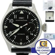MINT IWC Big Pilot 7 Day Reserve 46mm 5009 5009-01 IW500901 Steel Blk Watch B&P