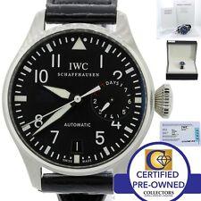 MINT IWC Big Pilot 7 Day Reserve 46mm 5009 5009-01 IW500901 Steel Blk Watch B&P