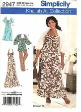 Simplicity Sewing Pattern Women's HALTER DRESS 2947 Khaliah Ali 18W-24W UNCUT