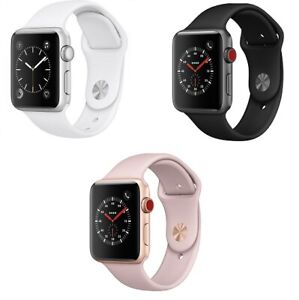 Apple Watch Series 3 - 38 42mm GPS 4G Stainless Steel Aluminum Case Smart Watch
