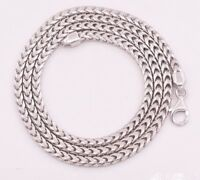 3.5mm Anti-Tarnish Solid Franco Chain Necklace Real 925 Sterling Silver ITALY