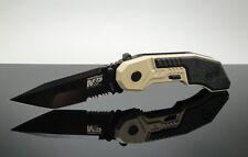 Couteau Smith&Wesson Military & Police A/O Tanto Serrat Acier 4034 SWMP3BSD