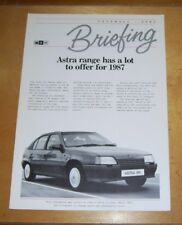 VAUXHALL-OPEL BRIEFING ASTRA RANGE HAS A LOT TO ANSWER FOR 1987  BROCHURE V6583