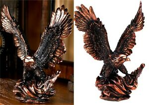 "Stunning Genuine Collector's Art ** 13.6"" SOARING EAGLE STATUE SCULPTURE ** NIB"
