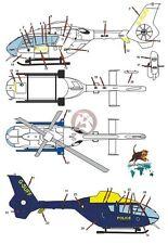 Peddinghaus 1/72 EC135 T1 British Police Helicopter G-SUFF West Midlands 2398