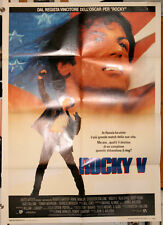 manifesto 2F film ROCKY V Sylvester Stallone Sage Talia Shire 1990 BOXE