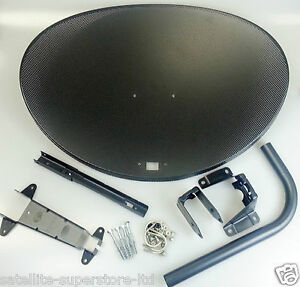 Zone 2 80cm Satellite Dish Face & Bracket pack For Sky HD Freesat 2Year Warranty