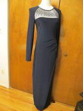 Ralph Lauren women's navy maxi evening detailed NWT dress size 6