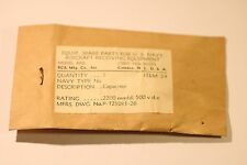 RADIO PARTS U.S NAVY AIRCRAFT RECEIVING EQUIPMENT ARB CONT.NOs.98559 ITEM 24