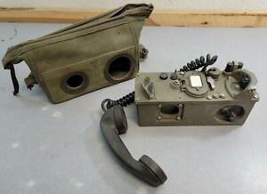 TA-312/PT + Bag - Vintage Military Radio Phone US Army Field Telephone