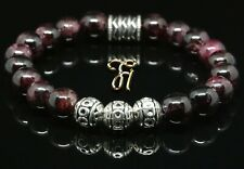Granat Armband Bracelet Perlenarmband Silber Beads rot 8mm