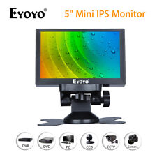 "EYOYO 5"" Mini IPS Monitor 800x480 Car Rear View Monitor Black 400cd/m2 For PC"