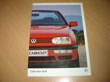 CATALOGUE VW Golf Cabriolet  de 1996