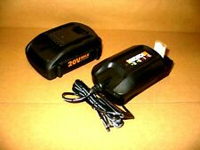 Genuine Worx Wa3525 2Ah 20v Lithium Battery & Charger Wa3742 Combo Mfg Refurb