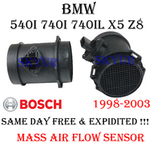 BMW Mass Air Flow Sensor MAF Original Bosch Germany 13621433567/0280217814 OEM