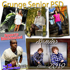 Photoshop-Templates for Senior Urban Grunge PSD Vol. 3