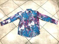 NEW Mens CDS Risen 100% Cotton Fashion Print Casual Shirt MultiColor Regular Fit