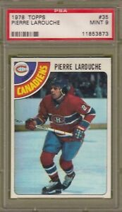 1978-79 TOPPS # 35 PIERRE LAROUCHE PSA 9 MINT MONTREAL CANADIENS