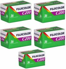 5 Rolls Fuji C200 35mm Film 135-36 (180 Exposures)
