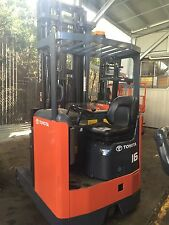 TOYOTA 6FBRE16 ELECTRIC REACH TRUCK 6-8M LIFT NEW BATTERY $14999+GST NEGOTIABLE