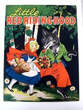 """1937 Linen Book """"Little Red Riding Hood"""" - Big Colorful Pictures *"""