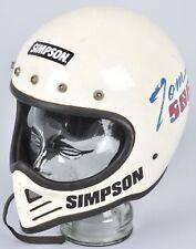 1980's Tom Sneva, 1983 Indy 500 Winner, Personally Worn Motorcycle  Helmet