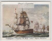"1827 HMS ""Asia"" Before Battle Of Navarino Royal Navy 1930s Trade Card"