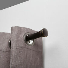 """Harmony Single 1"""" Curtain Drapery Rod - Two Sizes - Two Colors"""